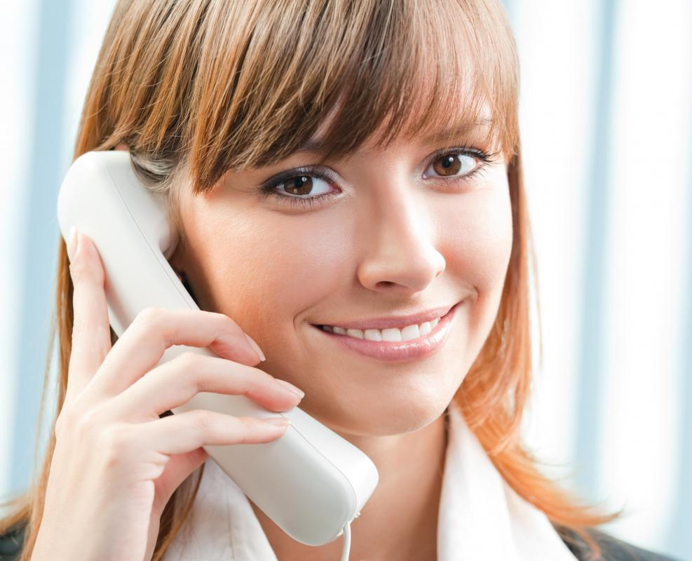 A salesperson may cold call potential clients to gain new business.