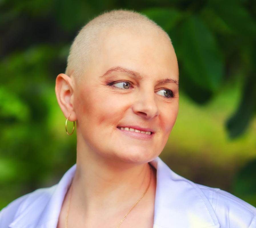 Some cancer patients may wear turbans to keep their heads warm after the hair loss associated with chemotherapy.