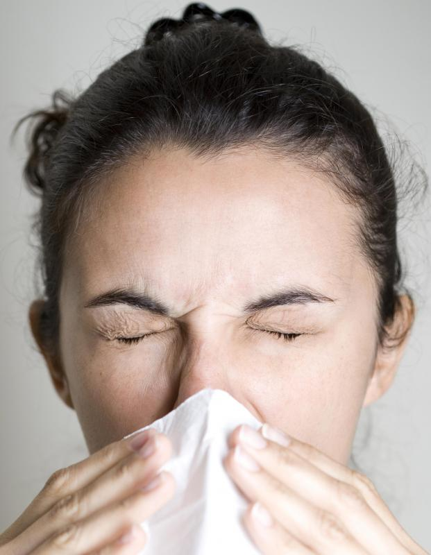 People allergic to mold may experience sneezing.