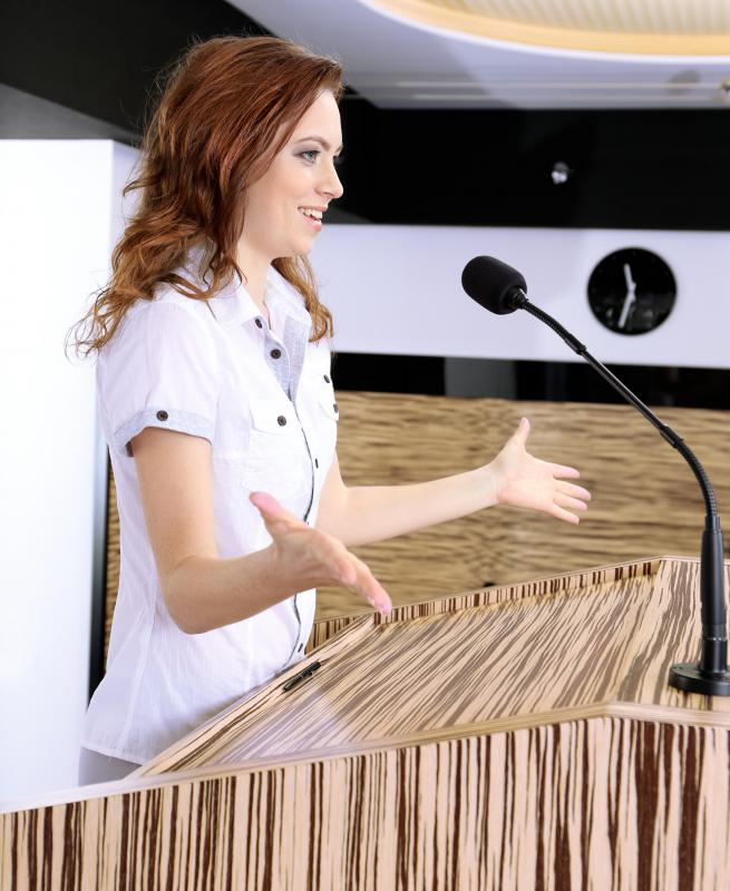 A presenter's body language might inform the audience the type of message being conveyed.
