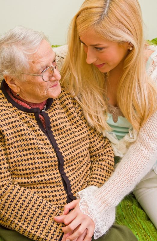 Home caregivers may provide emotional support too.