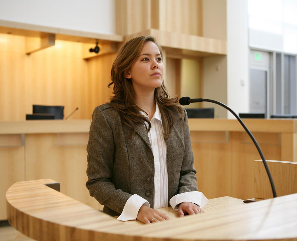 Testimony provided in a trial is transcribed by a court reporter.