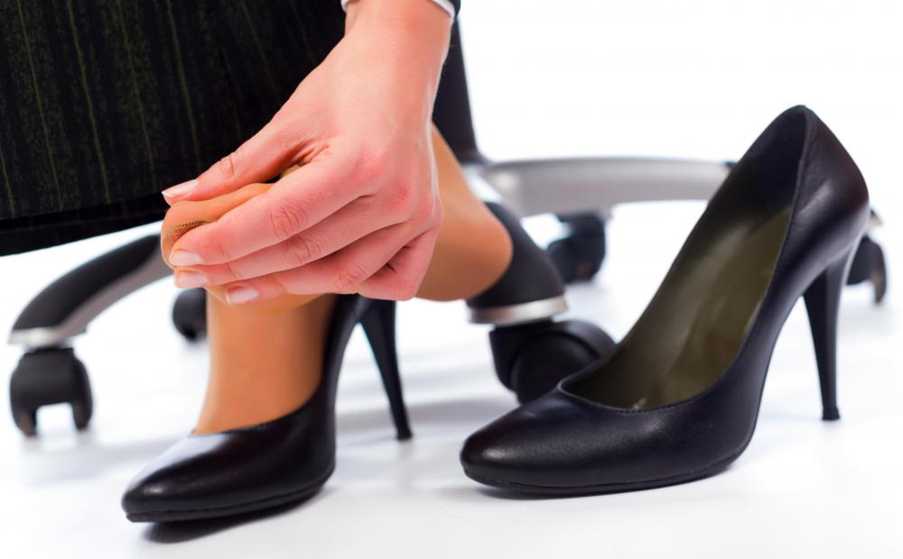 The constant wearing of high heels can be the cause of foot pain.