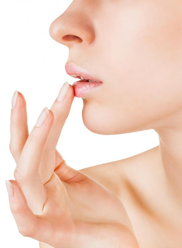 Lip balm may be used to maintain moist lips.