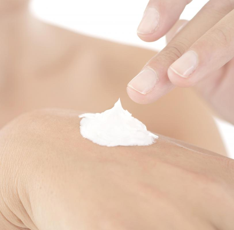 Skin creams may help relieve skin irritation associated with rashes.