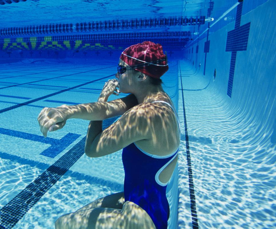 Some aerobic exercises can be done while submerged underwater, as the water adds extra resistance.