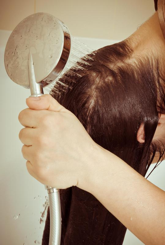 Hair lotions and masks containing eggs are generally rinsed out of the hair after an hour.