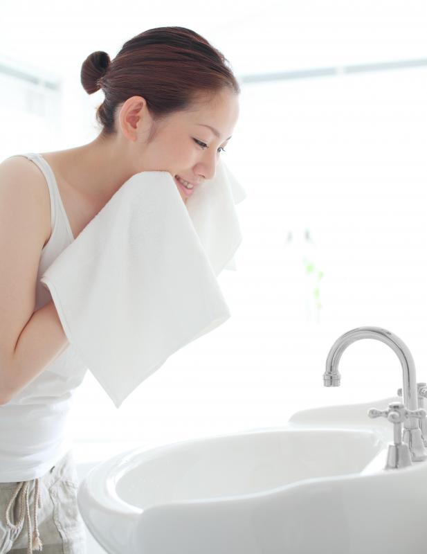 It's important to wash the face with a cleanser, not soap, and use moisturizer designed for one's skin type.