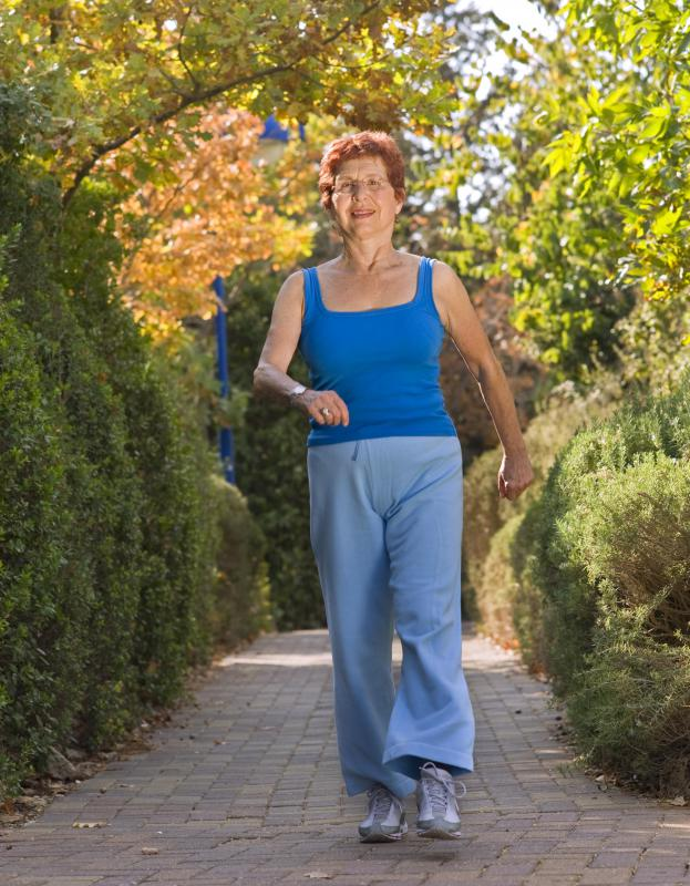 Power walking is recommended for the elderly.