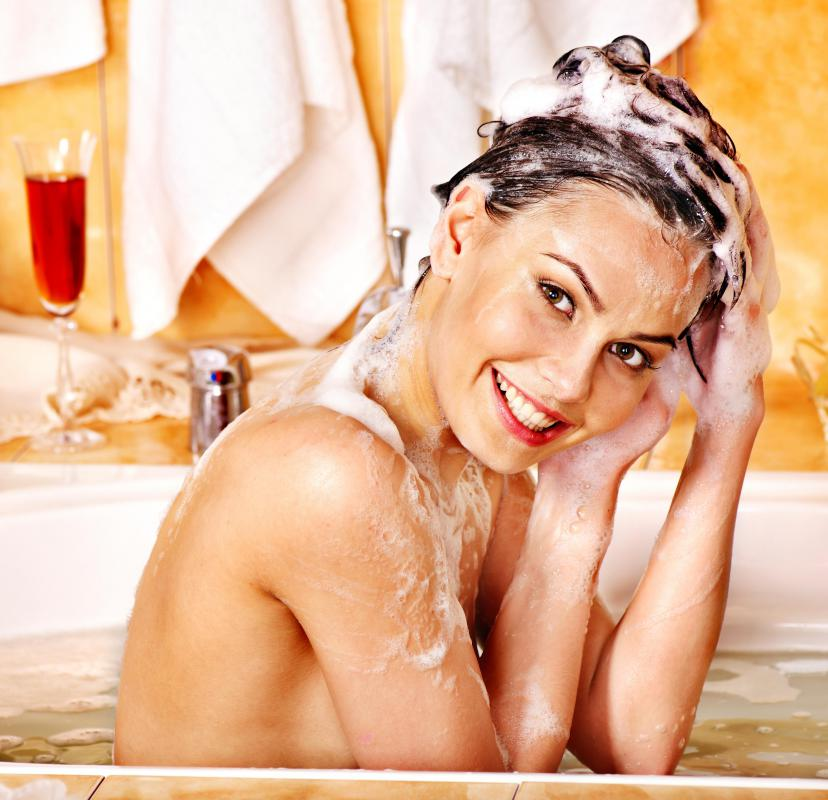 Many medicated shampoos contain selenium sulfide or zinc pyrithione.