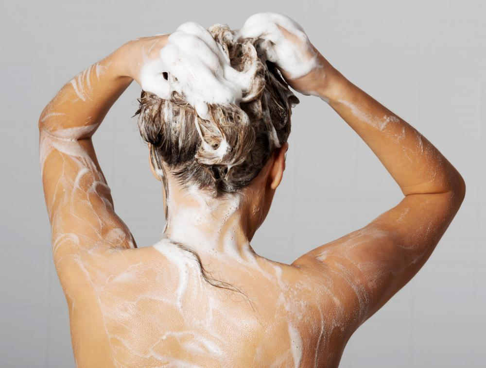 Lanolin in shampoos should be massaged into the scalp and then rinsed out.