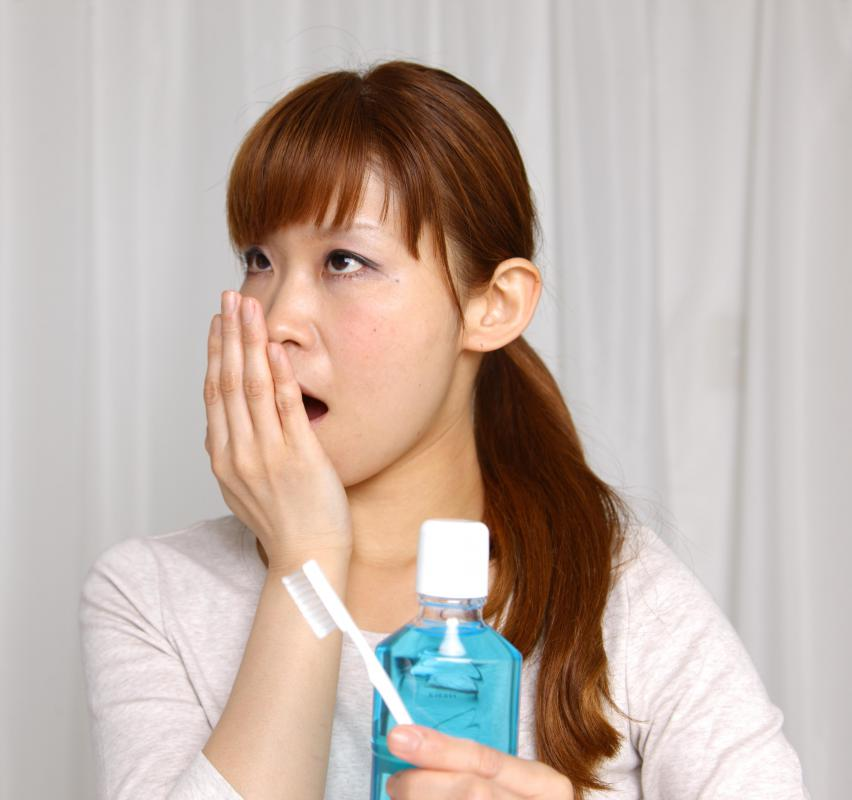Periodontal mouthwash may help freshen a person's breath.