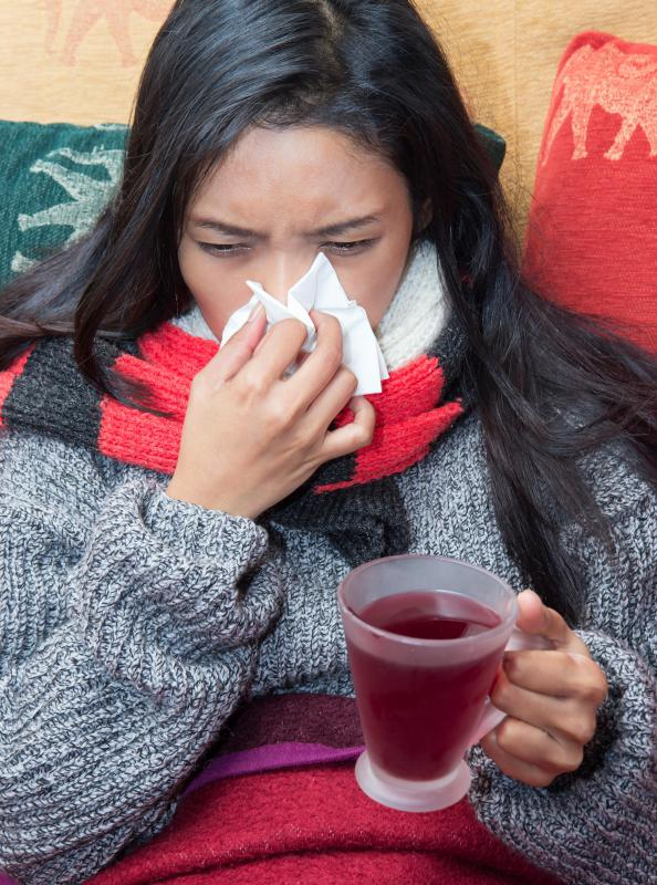 Having a bad cold can affect the way taste is perceived.