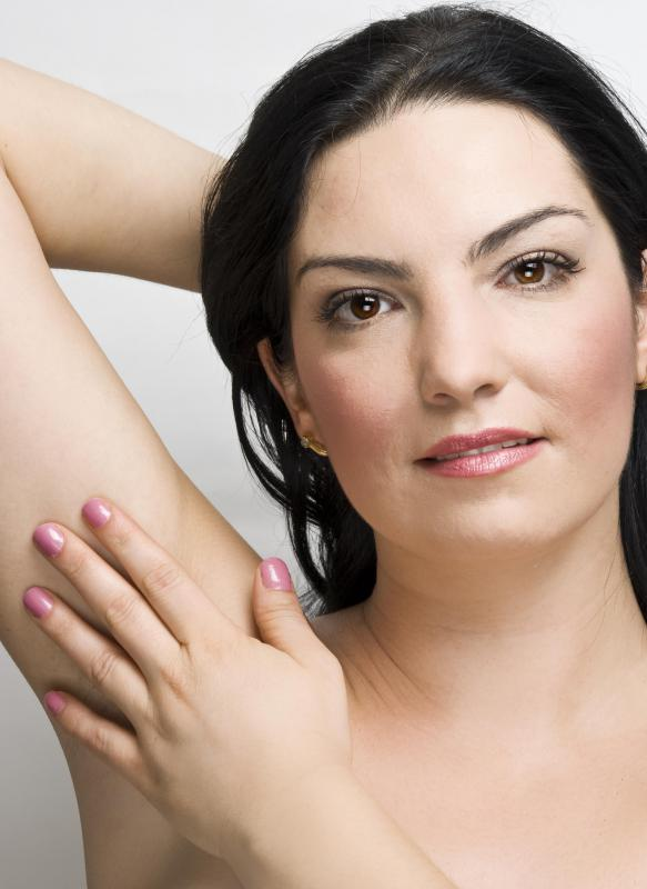 Depilatory lotions may be used to remove unwanted underarm hair.