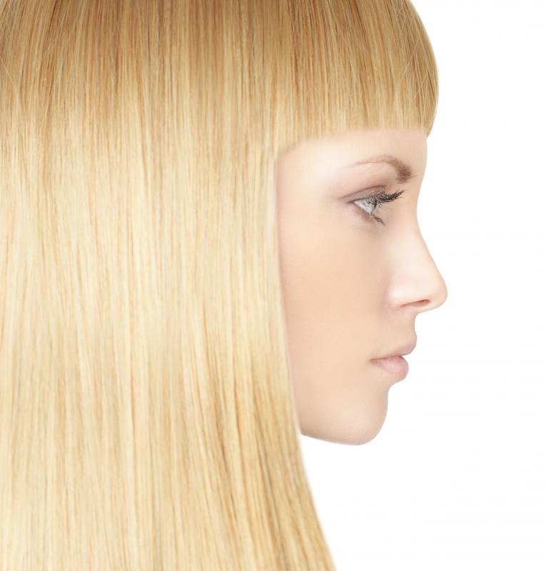 Once hair has been bleached, it loses pigment.