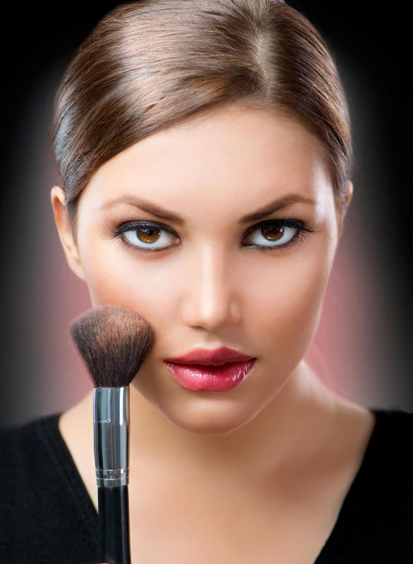 Bronzer blush is typically only applied to the face and neck.
