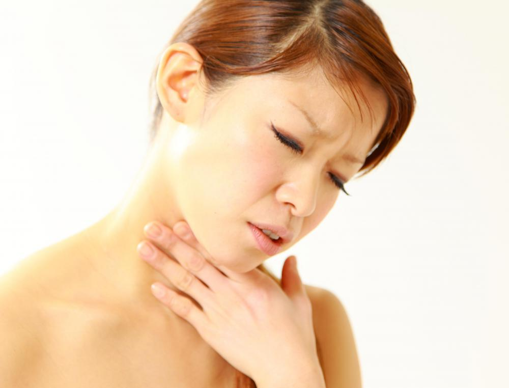 A burning sensation in the throat is a common feeling with esophagus inflammation.