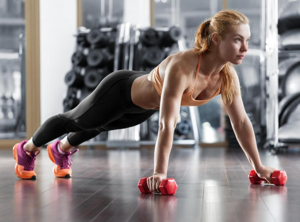 Dumbbell push-ups are a type of chest press.