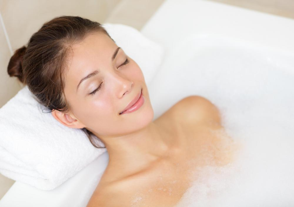 A bubble bath can be part of a spa weekend, or a good replacement if one can't afford a spa weekend.