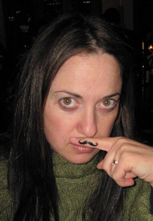 The fingerstache is popular with both men and women.