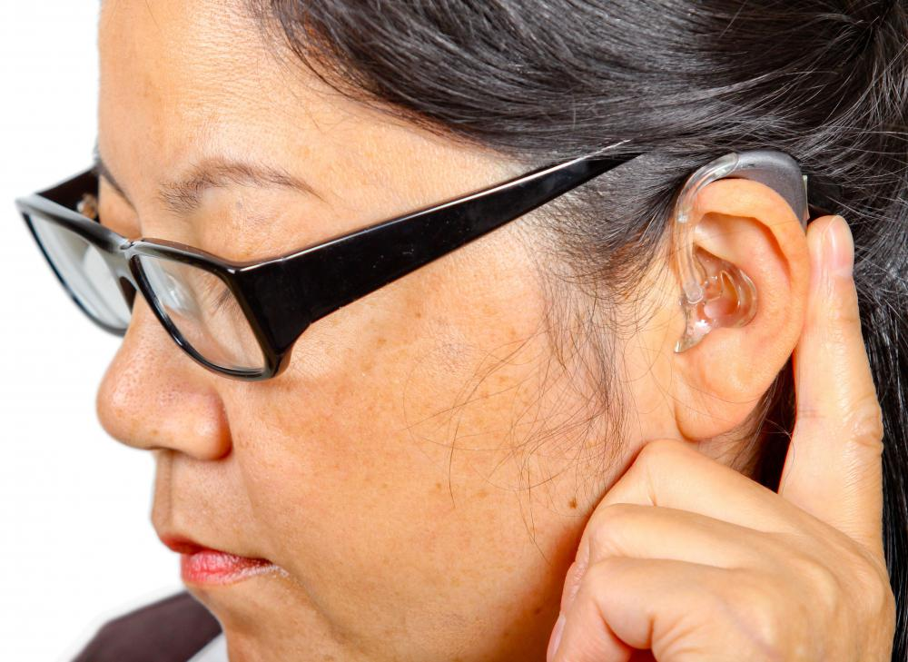 Some hearing aid parts act to amplify sounds received in the ear.