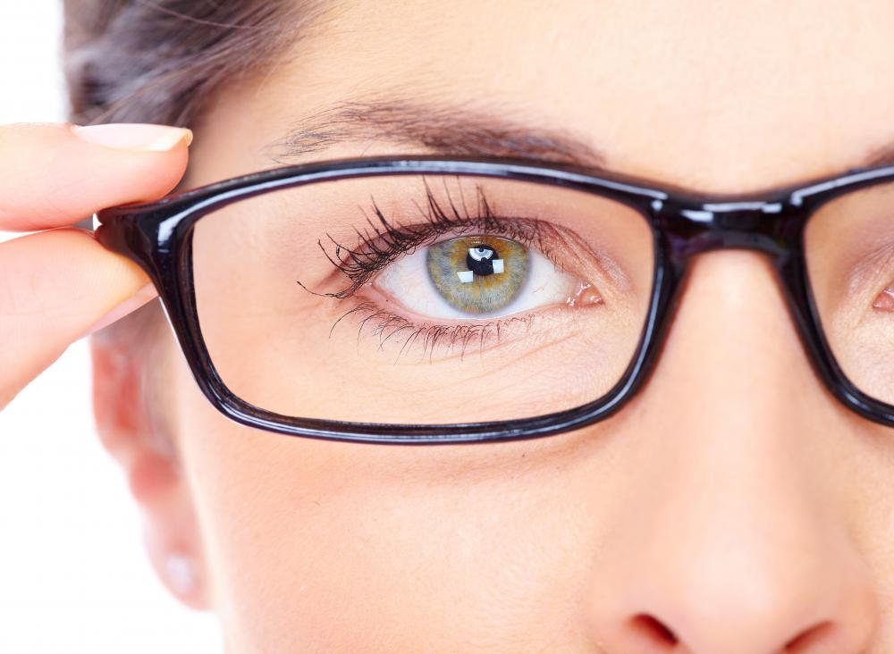 Corrective lenses may help reduce eye strain.