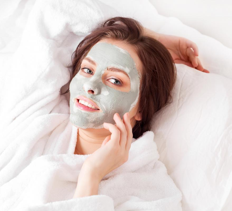 Clay masks purify the skin and pull dirt and oil from pores.