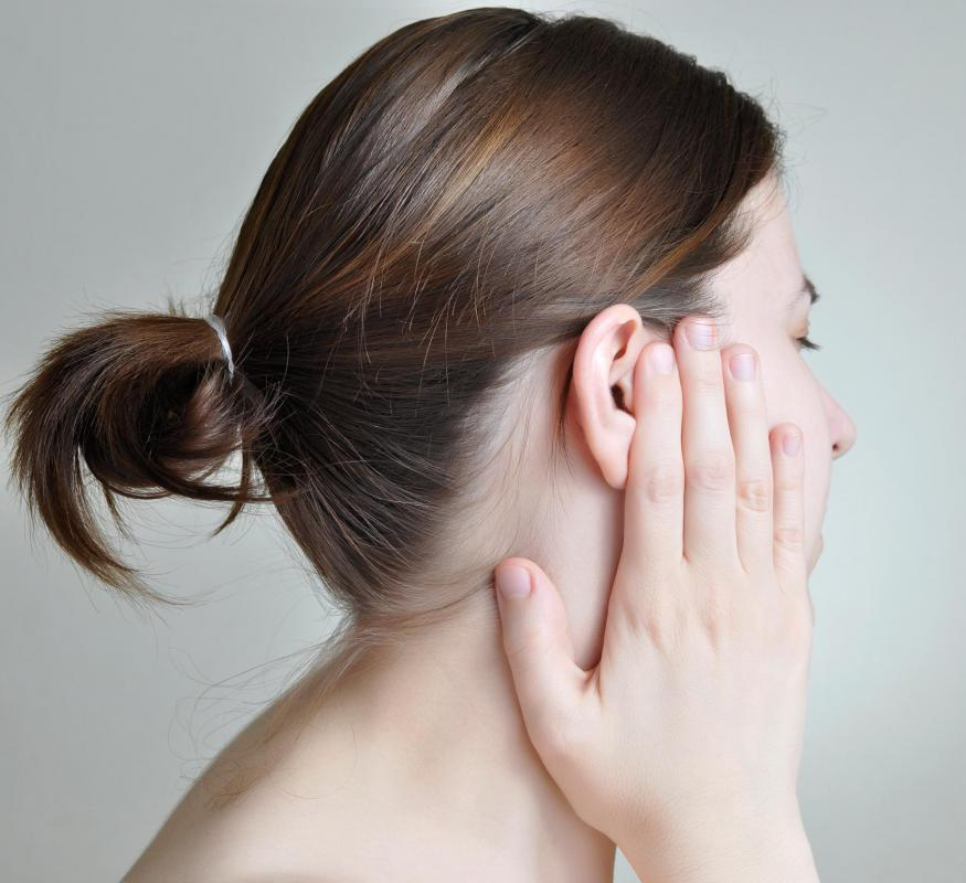 Ringing in the ears is a symptom of a ruptured eardrum.