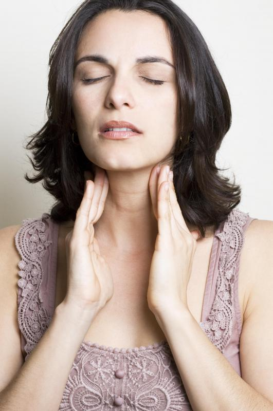 Swollen neck glands may indicate the presence of strep throat.