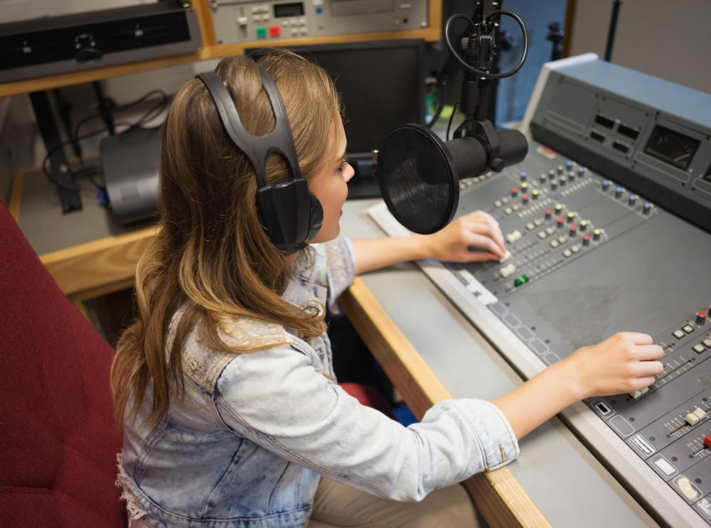 A radio producer's technical proficiency may affect the quality of sound that her station's audience hears.