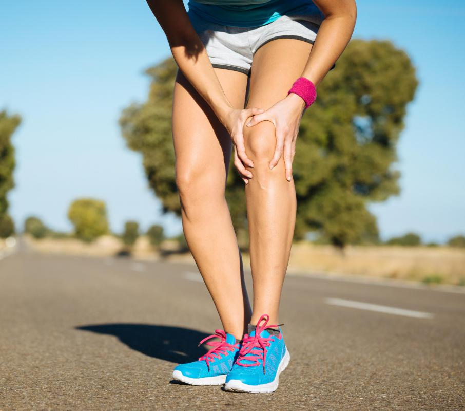 An incorrect running gait can lead to muscle strains or sprains.