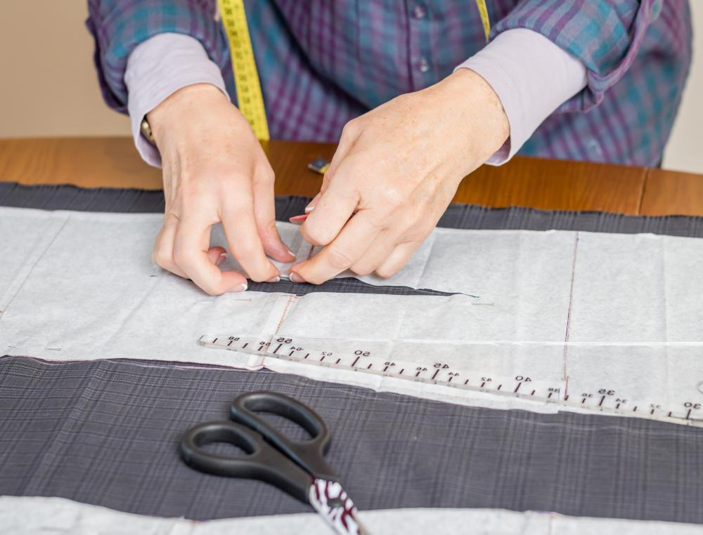 Pattern drafting is used to create paper sewing patterns.