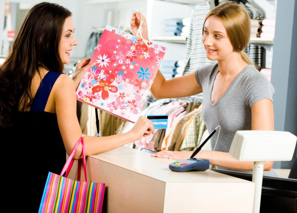 A retail salesperson may be responsible for handling merchandise returns.