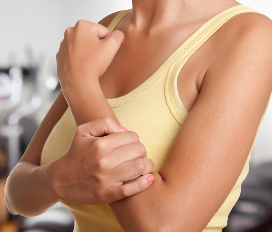 People exercising their forearms should use weights that provide resistance but don't cause pain.