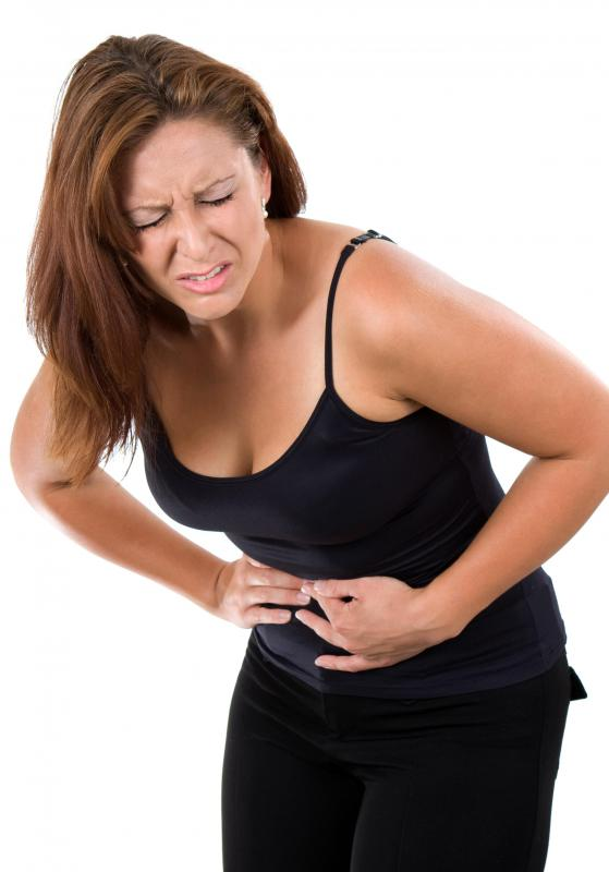 Abdominal pain is a common side effect of arsenic trioxide.