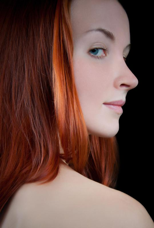 A hair color specialist may work with tricky hair shades, such as red.