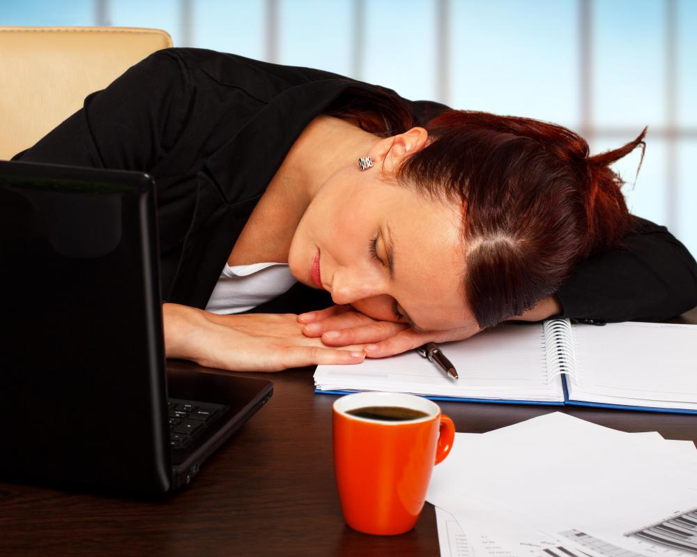 Working too hard during the day can easily cause a person to feel tired and fatigued.
