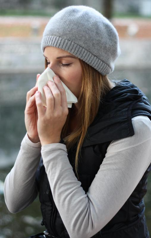 Perennial rhinitis may result in a runny nose.