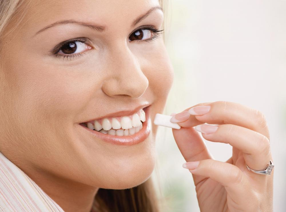 Chewing gum stimulates saliva which can help combat bad breath.