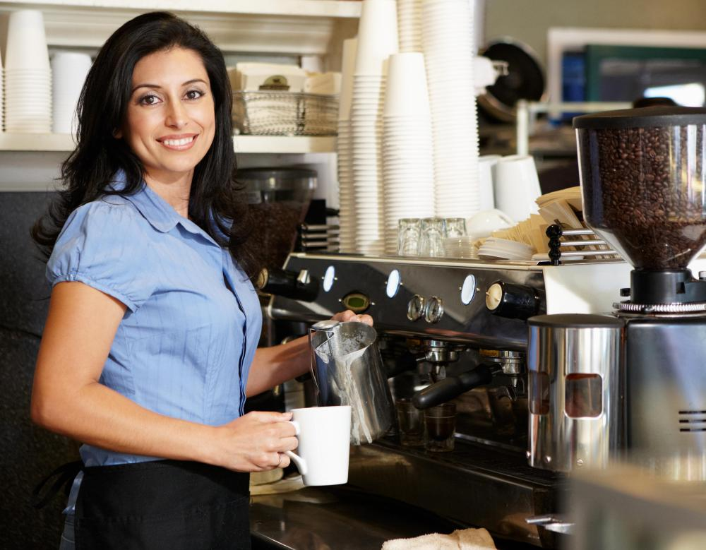 Shop manager jobs may include work as a coffee shop manager.