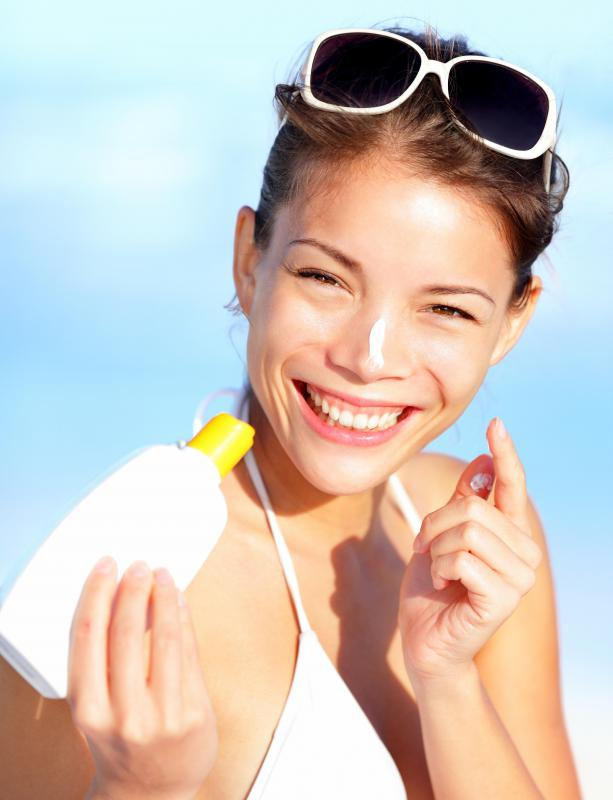 Regularly applying sunblock will help keep skin looking younger longer.