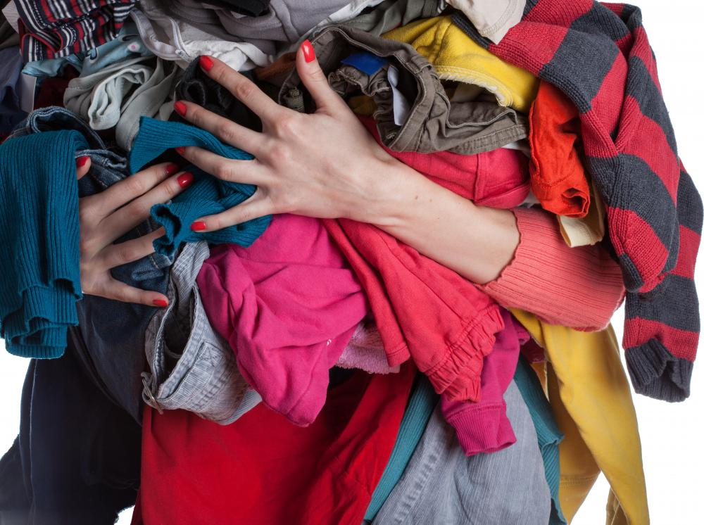 Large donations of clothing may be tax-deductible.