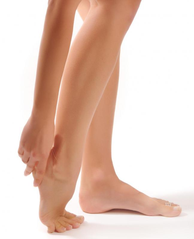 A common cause of pain in the heels is plantar fasciitis, an inflammation of a tendon stretching from the heel to the front of the foot.