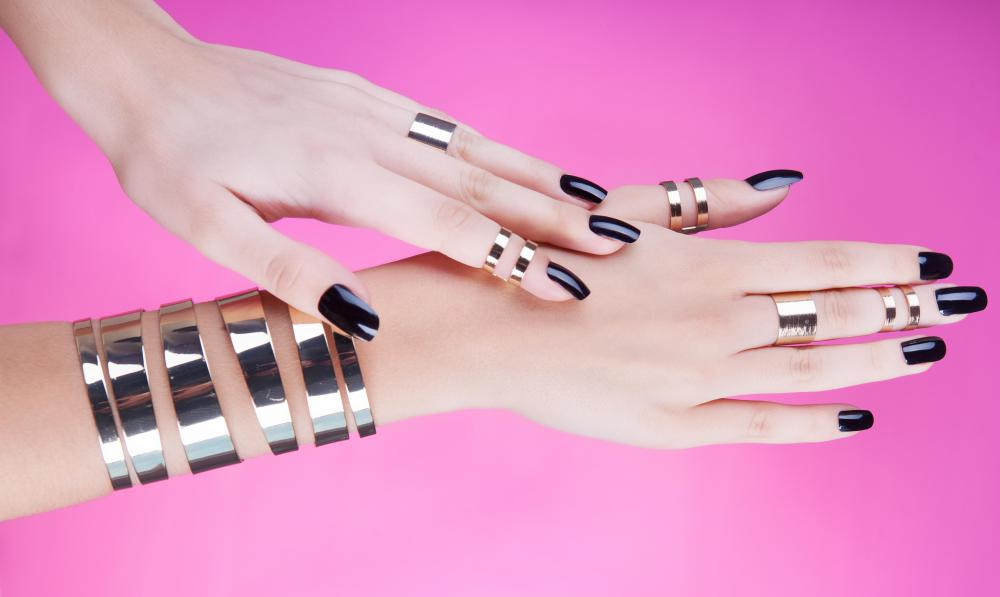 Black nail polish may be worn by goth individuals.