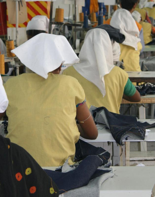 Sweatshop-free clothes are designed to eradicate unfair and unsafe labor conditions.