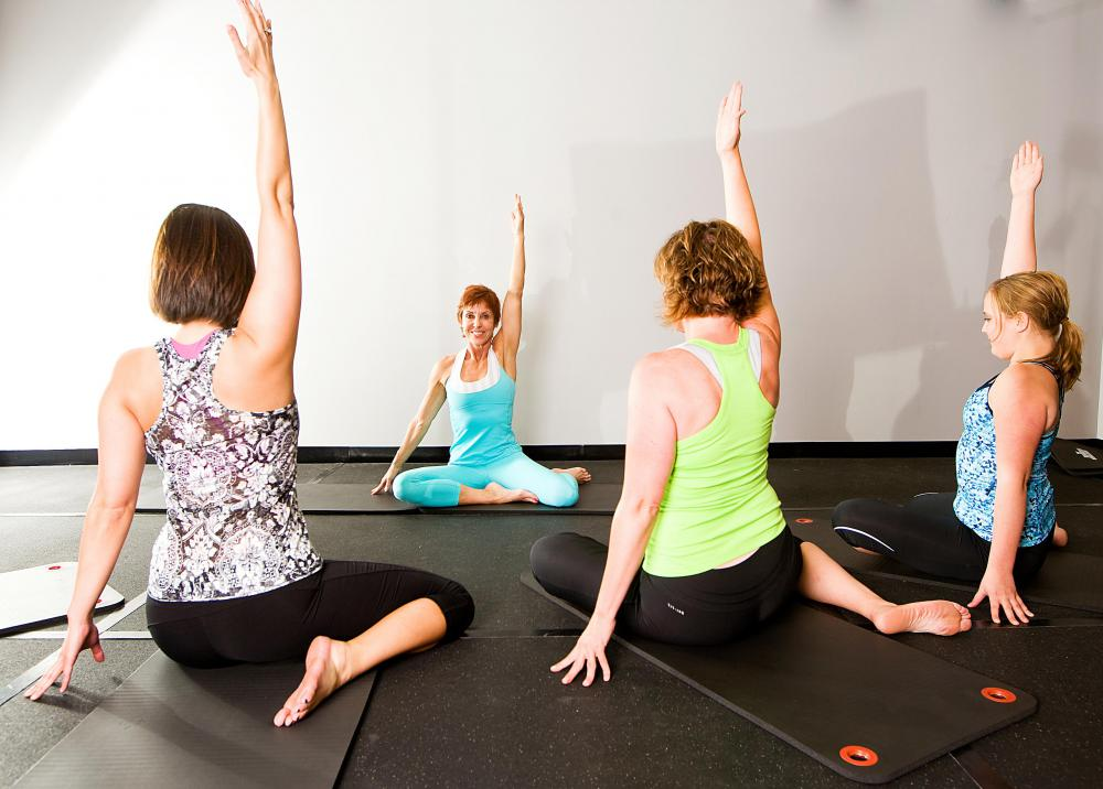 Stretches that target the hips help restore flexibility.