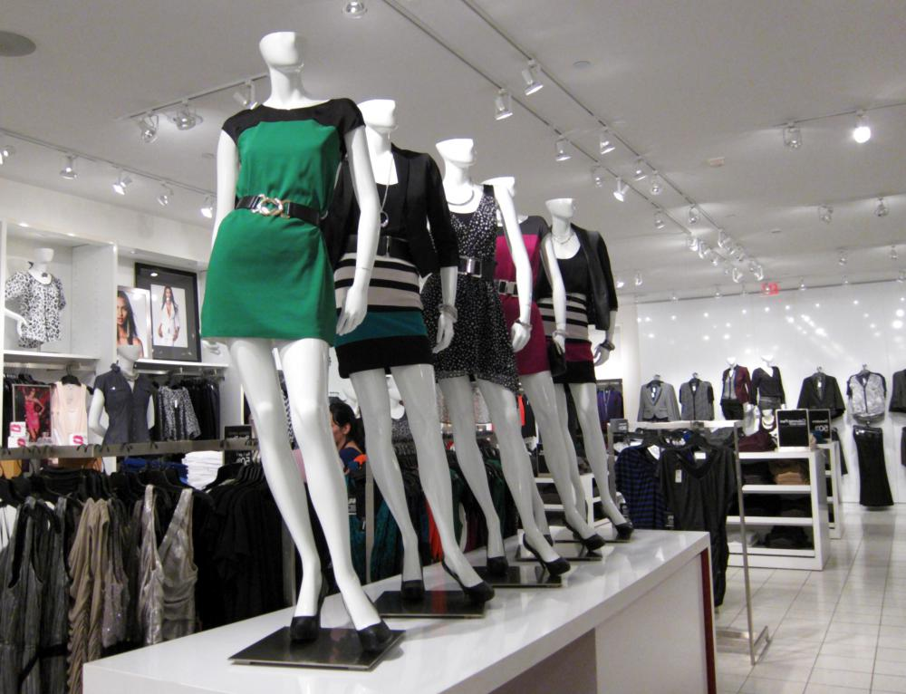 Dressmaking mannequins enable customers to see how garments might look on real people.