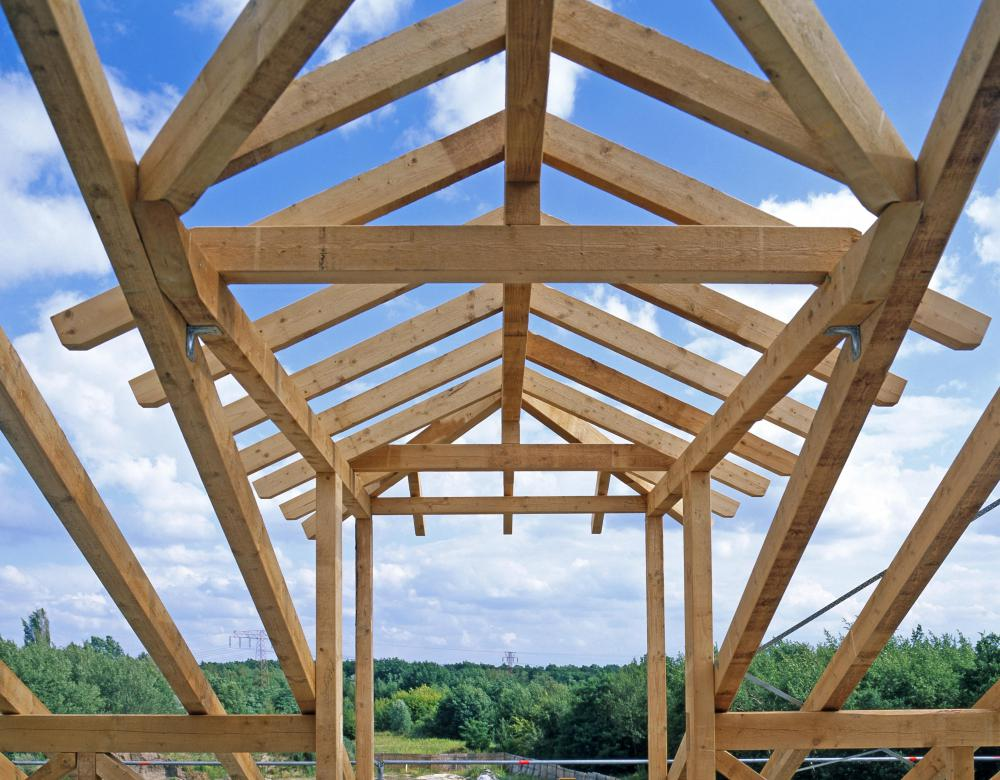 A roof truss is more time effective than having to erect each ceiling joist and rafter separately.
