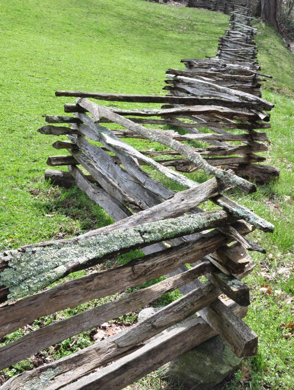 Split rail fencing adds a rustic look to landscaping.
