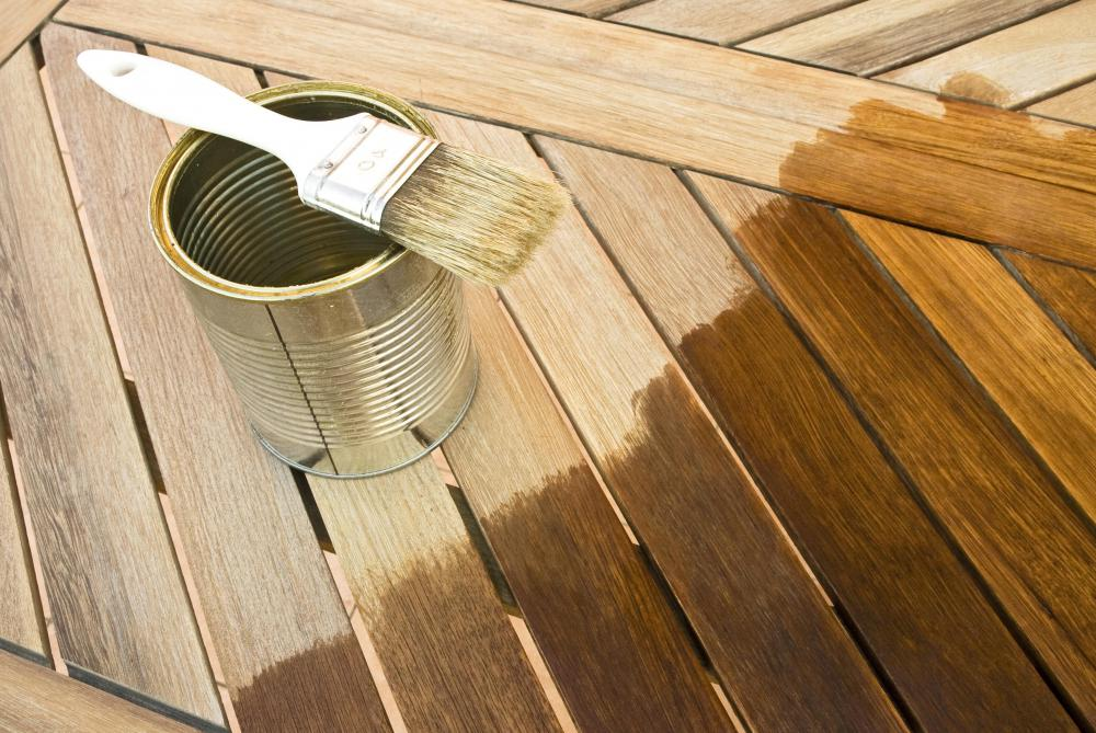 Tannic acid is used in wood stain.